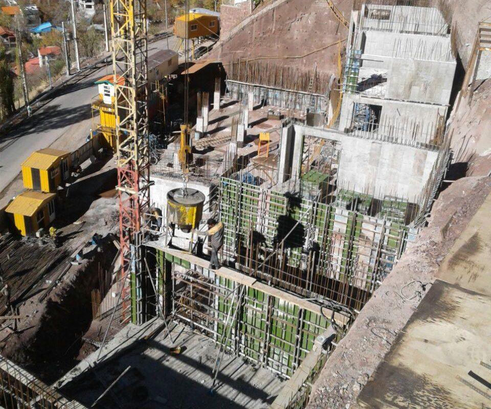 چهار عمل اصلی ساختمان بتنی